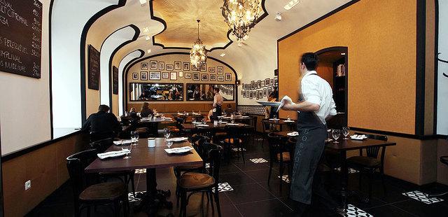 Borkonyha étterem belső
